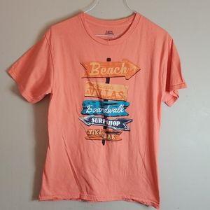 Izod Saltwater short sleeve orange tee size small